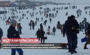 BAŞÇİFTLİK KAR FESTİVALİ ERTELENDİ