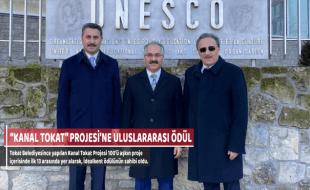 """""""KANAL TOKAT"""" PROJESİ'NE ULUSLARARASI ÖDÜL"""