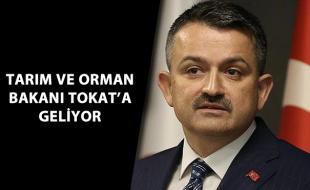 TARIM VE ORMAN BAKANI TOKAT'A GELİYOR
