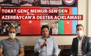 TOKAT GENÇ MEMUR-SEN'DEN AZERBAYCAN'A DESTEK AÇIKLAMASI