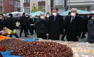 Vali Dr. Ozan Balcı Çarşamba Pazarını Ziyaret Etti