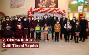 2. Okuma Kültürü Ödül Töreni Yapıldı