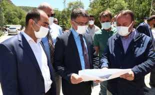 Vali Dr. Ozan Balcı, Zinav Kanyonu'nda İncelemelerde Bulundu